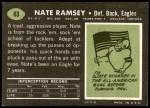 1969 Topps #63  Nate Ramsey  Back Thumbnail
