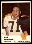 1961 Fleer #97  Bill Forester  Front Thumbnail