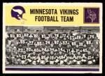 1964 Philadelphia #111   Vikings Team Front Thumbnail
