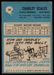 1964 Philadelphia #39  Charlie Scales  Back Thumbnail