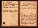 1967 Philadelphia #31  Roger LeClerc  Back Thumbnail
