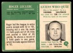 1966 Philadelphia #35  Roger LeClerc  Back Thumbnail