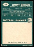 1960 Topps #23  Jim Brown  Back Thumbnail