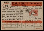 1956 Topps #39  Lynn Chandnois  Back Thumbnail