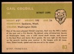 1961 Fleer #83  Gail Cogdill  Back Thumbnail