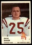 1961 Fleer #64  Dave Baker  Front Thumbnail