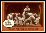 1961 Topps #132   -  Milt Plum 1960 Football Highlights Front Thumbnail