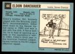 1964 Topps #44  Eldon Danenhauer  Back Thumbnail