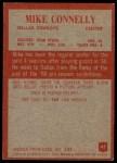 1965 Philadelphia #45  Mike Connelly  Back Thumbnail