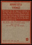 1965 Philadelphia #99   Vikings Team Back Thumbnail