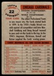 1956 Topps #22   Cardinals Team Back Thumbnail