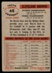 1956 Topps #45   Browns Team Back Thumbnail