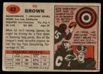 1957 Topps #43  Ed Brown  Back Thumbnail