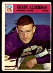 1966 Philadelphia #106  Grady Alderman  Front Thumbnail