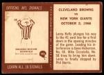 1967 Philadelphia #193   Cleveland Browns Back Thumbnail