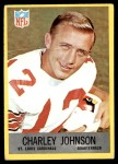 1967 Philadelphia #161  Charley Johnson  Front Thumbnail