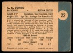 1961 Fleer #22  KC Jones  Back Thumbnail