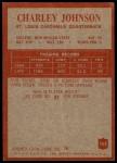 1965 Philadelphia #163  Charley Johnson   Back Thumbnail