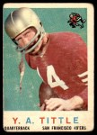 1959 Topps #130  Y.A. Tittle  Front Thumbnail