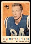1959 Topps #89  Jim Mutscheller  Front Thumbnail