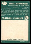 1960 Topps #91  Jesse Richardson  Back Thumbnail