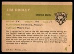 1961 Fleer #4  Jim Dooley  Back Thumbnail