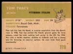 1961 Fleer #119  Tom Tracy  Back Thumbnail