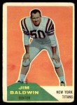 1960 Fleer #30  Jim Baldwin  Front Thumbnail