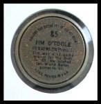 1964 Topps Coins #85  Jim O'Toole  Back Thumbnail