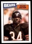 1987 Topps #46  Walter Payton  Front Thumbnail