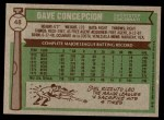 1976 Topps #48  Dave Concepcion  Back Thumbnail