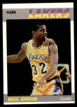 1987 Fleer #56  Magic Johnson  Front Thumbnail