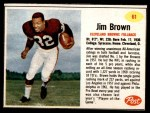1962 Post #61  Jim Brown  Front Thumbnail