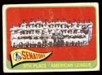 1965 Topps #267   Senators Team Front Thumbnail