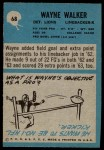 1964 Philadelphia #68  Wayne Walker  Back Thumbnail