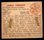 1950 Bowman #132  Mickey Vernon  Back Thumbnail