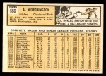 1963 Topps #556  Al Worthington  Back Thumbnail