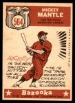 1959 Topps #564   -  Mickey Mantle All-Star Back Thumbnail