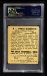 1948 Leaf #8 BN Vince Banonis  Back Thumbnail