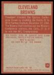 1965 Philadelphia #29   Browns Team Back Thumbnail