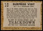 1958 Topps TV Westerns #18   Surprise Visit  Back Thumbnail