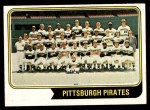 1974 Topps #626   Pirates Team Front Thumbnail