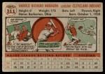 1956 Topps #311  Hal Naragon  Back Thumbnail