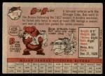 1958 Topps #313  Bob Rush  Back Thumbnail