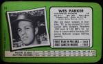 1971 Topps Super #14  Wes Parker  Back Thumbnail