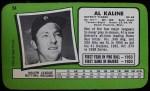 1971 Topps Super #54  Al Kaline  Back Thumbnail