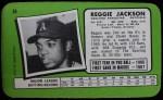 1971 Topps Super #38  Reggie Jackson  Back Thumbnail
