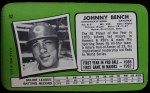 1971 Topps Super #32  Johnny Bench  Back Thumbnail