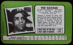 1971 Topps Super,Topps Supers #3  Ted Savage  Back Thumbnail