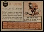 1962 Topps #569  Ed Sadowski  Back Thumbnail